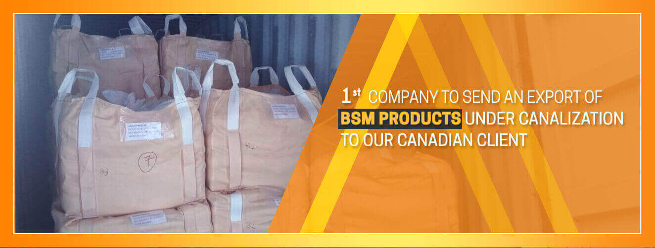 Export of BSM Products